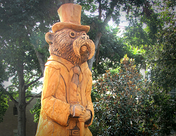 Chainsaw carved Teddy Roosevelt bear