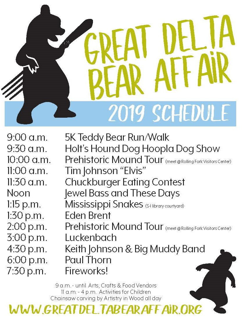 2019 Great Delta Bear Affair Schedule